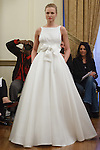 Model walks runway in a Faith bridal gown from the Peter Langner Bridal collection 2017, at the 3 West Club on April 16, 2016 during New York Bridal Fashion Week Spring Summer 2017.