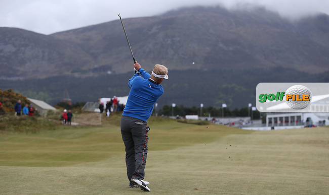 Soren Kjeldsen (DEN) plays second shot to the last during Round Three of the 2015 Dubai Duty Free Irish Open Hosted by The Rory Foundation at Royal County Down Golf Club, Newcastle County Down, Northern Ireland. 30/05/2015. Picture David Lloyd | www.golffile.ie