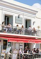France, Provence-Alpes-Côte d'Azur, Nice: cafes at Cours Saleya | Frankreich, Provence-Alpes-Côte d'Azur, Nizza: Cafés auf dem Cours Saleya
