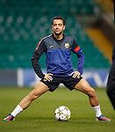 Xavi Hernandez training at Celtic Park