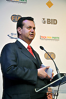 SAO PAULO, SP, 22 AGOSTO 2012 - BID-FIA - O prefeito de Sao Paulo Gilberto Kassab durante Evento do BID-FIA: Construindo o Caminho Rumo à Segurança Rodoviária no Hotel Renaissance na regiao da Av. Paulista, na tarde desta quarta-feira, 22. (FOTO: THAÍS RIBEIRO / BRAZIL PHOTO PRESS).