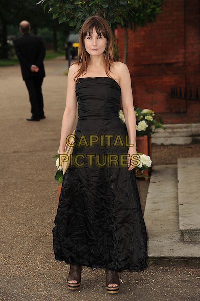 Daisy Bates.English National Ballet Summer Party, Hyde Park, London, England..June 27th, 2012.full length black strapless dress platform open toe shoes .CAP/CAS.©Bob Cass/Capital Pictures.