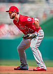 16 August 2017: Los Angeles Angels first baseman C.J. Cron in action against the Washington Nationals at Nationals Park in Washington, DC. The Angels defeated the Nationals 3-2 to split their 2-game series. Mandatory Credit: Ed Wolfstein Photo *** RAW (NEF) Image File Available ***