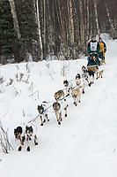 Jeff Holt w/Iditarider on Trail 2005 Iditarod Ceremonial Start near Campbell Airstrip Alaska SC