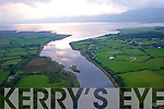 An Aerial view of the river laune, Killorglin, County Kerry