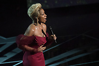 Mary J. Blige performs during the live ABC Telecast of The 90th Oscars&reg; at the Dolby&reg; Theatre in Hollywood, CA on Sunday, March 4, 2018.<br /> *Editorial Use Only*<br /> CAP/PLF/AMPAS<br /> Supplied by Capital Pictures