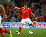Gareth Bale of Wales takes a shot on goal during the World Cup Qualifying Group D match at the Cardiff City Stadium, Cardiff. Picture date 2nd September 2017. Picture credit should read: Simon Bellis/Sportimage