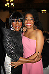 Guiding Light Cicely Tyson (walked in fashion show) poses with Another World Rhonda Ross (A/W) as she attended B Michael America Couture Collection - Fall/Winter collection (Fashion Show) on February 16, 2011 at the Plaza Hotel, New York City, New York. (Photo by Sue Coflin/Max Photos)