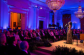 Audra McDonald performs in the East Room of the White House during the National Governors Association Dinner hosted by United States President Barack Obama and First Lady Michelle Obama, February 24, 2013. .Mandatory Credit: Pete Souza - White House via CNP