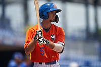 St. Lucie Mets Jacob Zanon (5) at bat during a Florida State League game against the Daytona Tortugas on August 11, 2019 at First Data Field in St. Lucie, Florida.  Daytona defeated St. Lucie 7-4.  (Mike Janes/Four Seam Images)