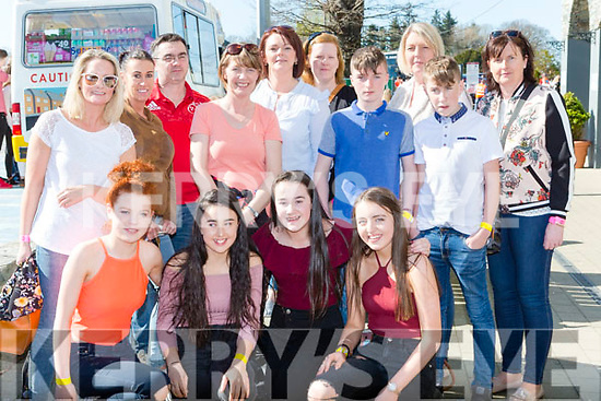 Castleisland Youth club at the Kerry Youth club day in the INEC on Sunday front row l-r: Aoife Kerins, Jane Lawlor, Aoife Walsh, Orla O'Donoghue, Back row: Marguerite Egan Nancy Foran, Joe Horrigan,Noreen O'Mahony, Sean Sullivan,Ned O'Connor Joan Browne Melanie Walsh, Helen Regan