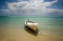 A Pirogue at Le Morne in the south west of Mauritius.