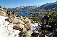 Courtesy photo/JIM WARNOCK<br /> Nick Spencer (from left) and his sons Cade and Cole make their way along the John Muir Trail.
