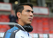 30th September 2017, Vitality Stadium, Bournemouth, England; EPL Premier League football, Bournemouth versus Leicester; Leonardo Ulloa of Leicester takes a look at The Vitality Stadium before kick off