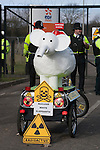 A white elephant of  nuclear build at a march against the building of  Hinkley C power station, Somerset  and the UK government's choice of Nuclear power as the mainstay of England's power supply.