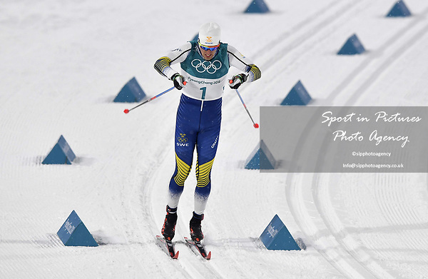 Calle Halfvarsson (SWE). Mens sprint classic qualification. Cross country skiing. Alpensia Croos-Country skiing centre. Pyeongchang2018 winter Olympics. Alpensia. Republic of Korea. 13/02/2018. ~ MANDATORY CREDIT Garry Bowden/SIPPA - NO UNAUTHORISED USE - +44 7837 394578