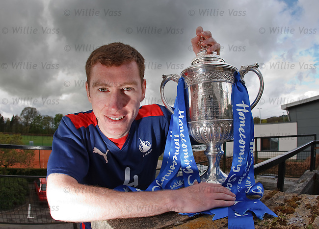 Falkirk's Paddy Cregg with the Homecoming Scottish Cup