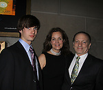 """As The World Turns Margaret Colin poses with husband Guiding Light's Justin Deas and son Joe at after party as she stars in """"Arcadia"""" - Broadway Opening Night on March 17, 2011 at the Ethel Barrymore Theatre, New York City, New York.  Arrivals, Curtain Call and Party after at Gotham Hall. (Photo by Sue Coflin/Max Photos)"""