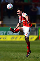 Fleetwood Town's Lewis Coyle in action<br /> <br /> Photographer Richard Martin-Roberts/CameraSport<br /> <br /> The EFL Sky Bet League One - Fleetwood Town v Peterborough United - Friday 19th April 2019 - Highbury Stadium - Fleetwood<br /> <br /> World Copyright © 2019 CameraSport. All rights reserved. 43 Linden Ave. Countesthorpe. Leicester. England. LE8 5PG - Tel: +44 (0) 116 277 4147 - admin@camerasport.com - www.camerasport.com
