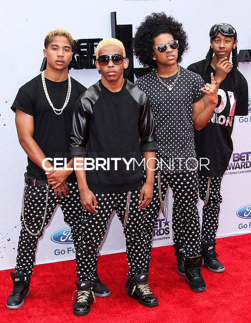 LOS ANGELES, CA - JUNE 30: Roc Royal, Princeton, Prodigy and Ray Ray of Mindless Behavior attend the 2013 BET Awards at Nokia Theatre L.A. Live on June 30, 2013 in Los Angeles, California. (Photo by Celebrity Monitor)