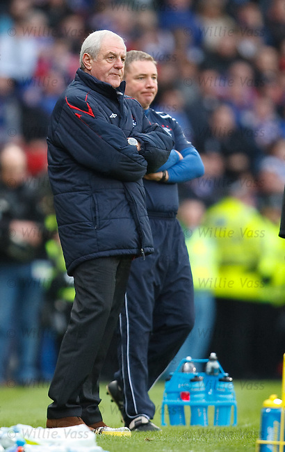 Walter Smith and Ally McCoist look hacked off