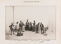 BNPS.co.uk (01202 558833)<br /> Pic: ForumAuctions/BNPS<br /> <br /> Pictured: A scene from the 'The Dynasts'.<br /> <br /> Charming previously unseen photos of a university's historic Thomas Hardy's production have come to light a century later.<br /> <br /> They show the performance of his play 'The Dynasts' by the Oxford Union Dramatic Society in 1920.<br /> <br /> It was the first time the prestigious society, which was founded in 1885, staged a play by a living author.<br /> <br /> The large ensemble cast can be seen in costume performing various scenes from Hardy's epic Napoleonic Wars drama which was published in three parts in 1904, 1905 and 1908.<br /> <br /> Hardy was a distant relative of Captain Thomas Hardy, who served with Admiral Nelson at the Battle of Trafalgar.