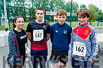 Pictured taking part in CBS, The Green fun run on Sunday last were l-r: Simone Hunt, Cian Lynch, Jack O'Donoghue and Rory Healy.