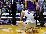 Stony Brook defeats UAlbany  69-60 in the America East Conference tournament quaterfinals at the  SEFCU Arena, Mar. 3, 2018.  Joe Cremo (#24) absorbing the defeat.