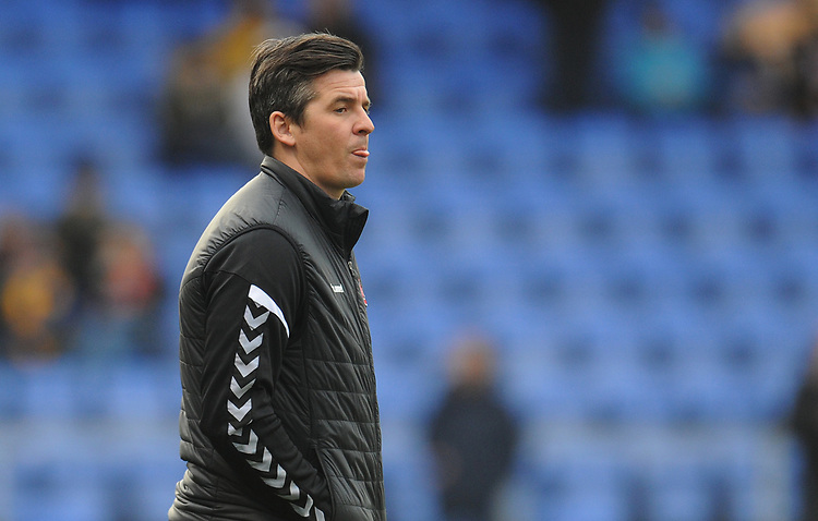 Fleetwood Town manager Joey Barton during the pre-match warm-up <br /> <br /> Photographer Kevin Barnes/CameraSport<br /> <br /> The EFL Sky Bet League One - Shrewsbury Town v Fleetwood Town - Tuesday 1st January 2019 - New Meadow - Shrewsbury<br /> <br /> World Copyright © 2019 CameraSport. All rights reserved. 43 Linden Ave. Countesthorpe. Leicester. England. LE8 5PG - Tel: +44 (0) 116 277 4147 - admin@camerasport.com - www.camerasport.com