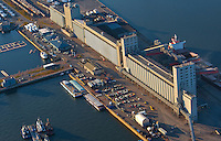 The Bunge Grain silo in Quebec city is pictured in this aerial photo November 11, 2009.