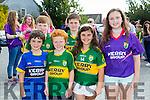 Front l-r Ciaran O'Shea, Thomás O Brien and Megan O'Shea. Back l-r Andrew O'Shea, Diarmuid Farren and Rebecca O'Shea at Kerry GAA family day at Fitzgerald Stadium  on Sunday