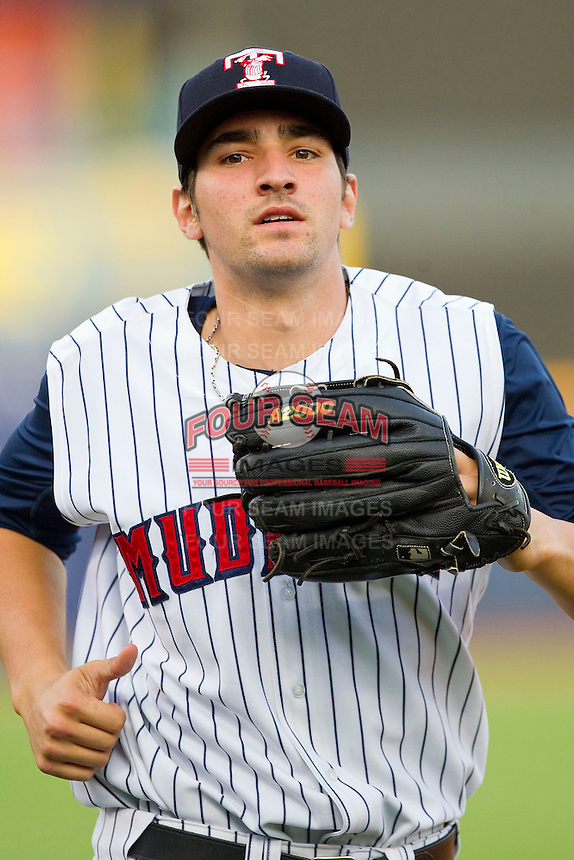 Toledo Mudhens left fielder Nick Castellanos (23) jogs off the field between innings of the game against the Charlotte Knights at 5/3 Field on May 3, 2013 in Toledo, Ohio.  The Knights defeated the Mudhens 10-2.  (Brian Westerholt/Four Seam Images)