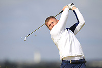 James Robinson (Redditch) on the 5th tee during Round 1 of the The Amateur Championship 2019 at The Island Golf Club, Co. Dublin on Monday 17th June 2019.<br /> Picture:  Thos Caffrey / Golffile<br /> <br /> All photo usage must carry mandatory copyright credit (© Golffile | Thos Caffrey)
