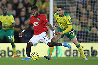 Fred of Manchester United under pressure from Kenny McLean of Norwich City during the Premier League match between Norwich City and Manchester United at Carrow Road on October 27th 2019 in Norwich, England. (Photo by Matt Bradshaw/phcimages.com)<br /> Foto PHC/Insidefoto <br /> ITALY ONLY