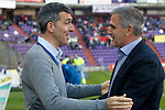 Real Valladolid's coach Paco Herrera (r) and Levante UD's coach Juan Ramon Lopez Muniz during La Liga Second Division match. March 11,2017. (ALTERPHOTOS/Acero)