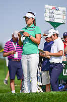 In Gee Chun (KOR) looks over her tee shot on 16 during Thursday's first round of the 72nd U.S. Women's Open Championship, at Trump National Golf Club, Bedminster, New Jersey. 7/13/2017.<br /> Picture: Golffile | Ken Murray<br /> <br /> <br /> All photo usage must carry mandatory copyright credit (&copy; Golffile | Ken Murray)