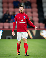 Ben Chilwell (Leicester City) of England U21 warms up pre match during the UEFA EURO U-21 First qualifying round International match between England 21 and Latvia U21 at the Goldsands Stadium, Bournemouth, England on 5 September 2017. Photo by Andy Rowland.