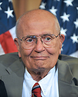 Washington, DC - July 14, 2009 -- U.S. Representative John D. Dingell (Democrat of Michigan), Chairman Emeritus, U.S. House Committee on Energy and Commerce, makes remarks as he and fellow Democratic members of the U.S. House of Representatives unveil the America's Affordable Health Choice Act of 2009 during a press conference in the Rayburn Room of the U.S. Capitol on Tuesday, July 14, 2009..Credit: Ron Sachs/CNP/AdMedia