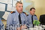 GARDAI: Speaking to the media at the Garda Press Conference in Killorglin Garda Station on Monday, Superintendent John Gilligan of the Garda Press Office,
