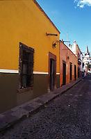 A typicale cobblestone street, San Miguel de Allende, Guanajuato, Mexico 16-9-05
