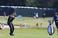 Phil Mickelson (USA) plays his 2nd shot on the 16th hole during Thursday's Round 1 of the 118th U.S. Open Championship 2018, held at Shinnecock Hills Club, Southampton, New Jersey, USA. 14th June 2018.<br /> Picture: Eoin Clarke | Golffile<br /> <br /> <br /> All photos usage must carry mandatory copyright credit (&copy; Golffile | Eoin Clarke)