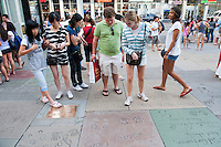 Incoming Occidental College first years go on group outings as part of OxyEngage. The trips take place the week before classes start. This group (Hollywood) took trips to various entertainment industry locations, August 25, 2010.  (Photo by Marc Campos, Occidental College Photographer)