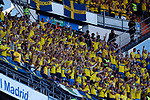 Sweden supporters during the Qualifiers - Group B to Euro 2020 football match between Spain and Sweden on 10th June, 2019 in Madrid, Spain. (ALTERPHOTOS/Manu Reino)