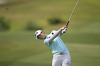 Sung Hyun Park (KOR) in action on the 1st during Round 1 of the HSBC Womens Champions 2018 at Sentosa Golf Club on the Thursday 1st March 2018.<br /> Picture:  Thos Caffrey / www.golffile.ie<br /> <br /> All photo usage must carry mandatory copyright credit (&copy; Golffile | Thos Caffrey)