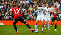Leeds United's Samuel Saiz takes on Brentford's Kamohelo Mokotjo<br /> <br /> Photographer Alex Dodd/CameraSport<br /> <br /> The EFL Sky Bet Championship - Leeds United v Brentford - Saturday 6th October 2018 - Elland Road - Leeds<br /> <br /> World Copyright &copy; 2018 CameraSport. All rights reserved. 43 Linden Ave. Countesthorpe. Leicester. England. LE8 5PG - Tel: +44 (0) 116 277 4147 - admin@camerasport.com - www.camerasport.com