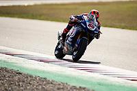9th July 2020; Circuit de Barcelona Catalunya, Barcelona, Spain; FIM Superbike World Championship Test, Day Two; Michael Van Der Mark of the Pata Yamaha WORLDSBK Team rides the Yamaha YZF R1