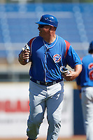 South Bend Cubs coach Ricardo Medina (36) during a game against the Lake County Captains on July 27, 2016 at Classic Park in Eastlake, Ohio.  Lake County defeated South Bend 5-4.  (Mike Janes/Four Seam Images)