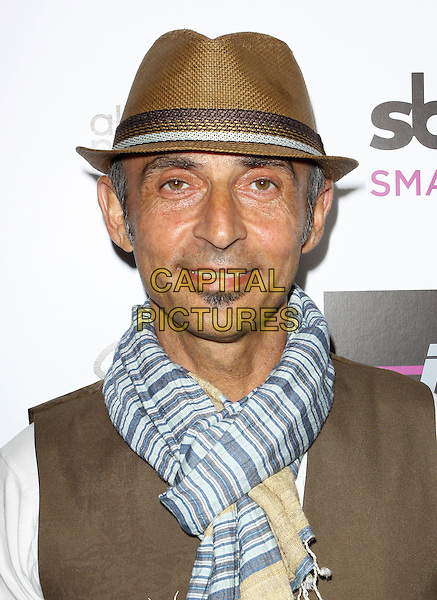SHAUN TOUB.Mi-6 Night Club Grand Opening Party held At Mi-6 Night club, West Hollywood, California, USA..September 15th, 2009.headshot portrait white soul patch facial hair white top hat brown  scarf .CAP/ADM/KB.©Kevan Brooks/AdMedia/Capital Pictures.