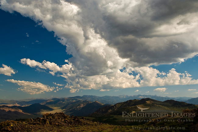 Clouds over the Eastern Sierra from Monitor Pass, Alpine County, California