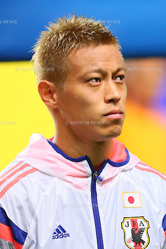 Keisuke Honda (JPN), <br /> SEPTEMBER 5, 2014 - Football / Soccer : <br /> KIRIN Challenge Cup 2014 <br /> match between Japan - Uruguay <br /> at Sapporo Dome, Hokkaido, Japan. <br />  (Photo by Yohei Osada/AFLO SPORT) [1156]